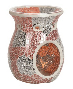 Tealight Wax Melter - Coral & Silver