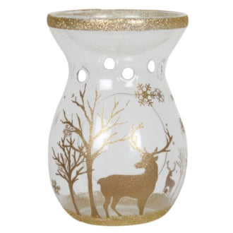 Tealight Wax Melter - Gold Reindeer