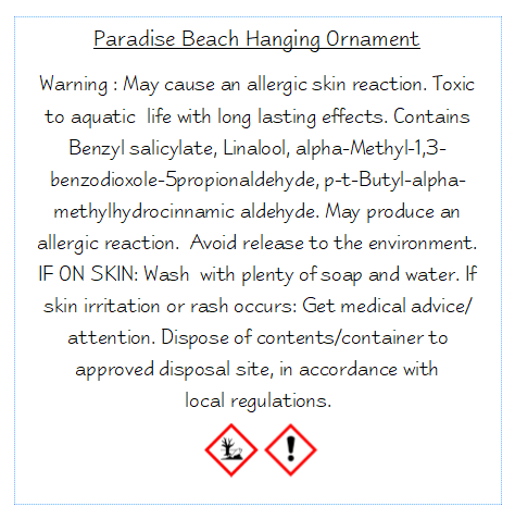 Hanging Ornament - Paradise Beach