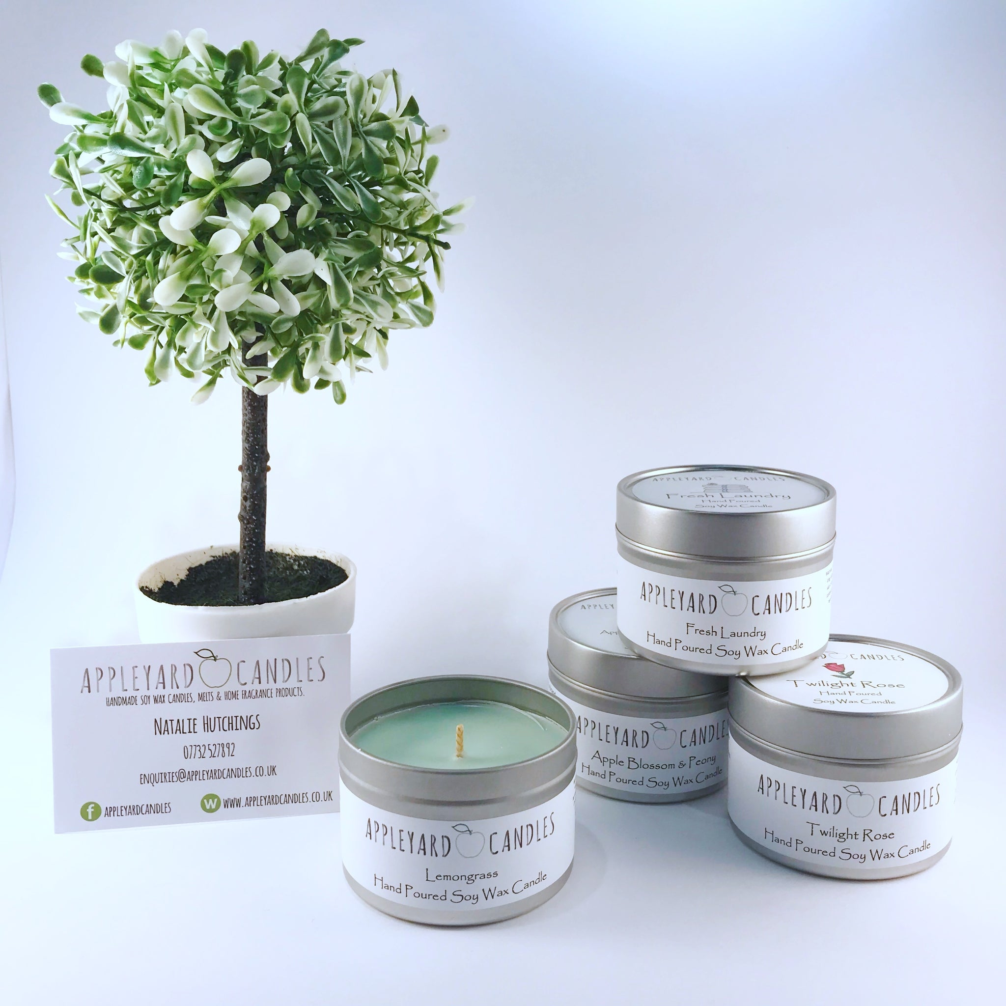 Tin Candle - Apple Blossom & Peony