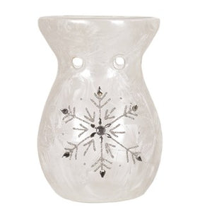 Tealight Wax Melter - Frosted Snowflake