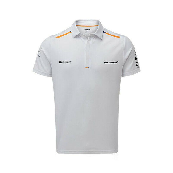 McLaren F1 Mens Essentials Polo Anthracite//Blue