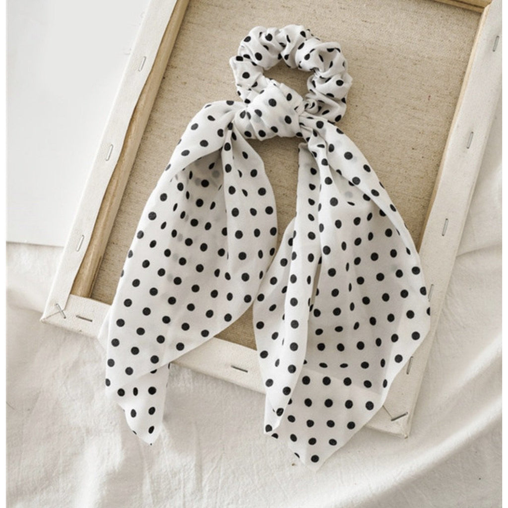 Spotty Scarf Scrunchies