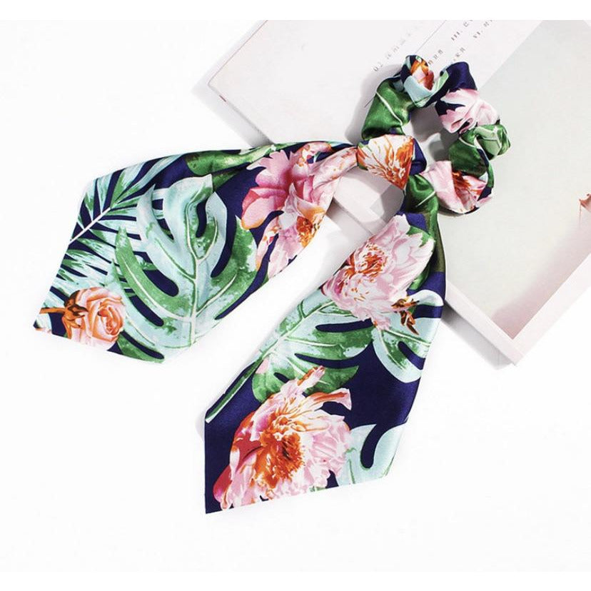 Tropical Island Scarf Scrunchies - Little Bird Designs