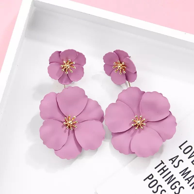 Emily Flower Earrings - Little Bird Designs