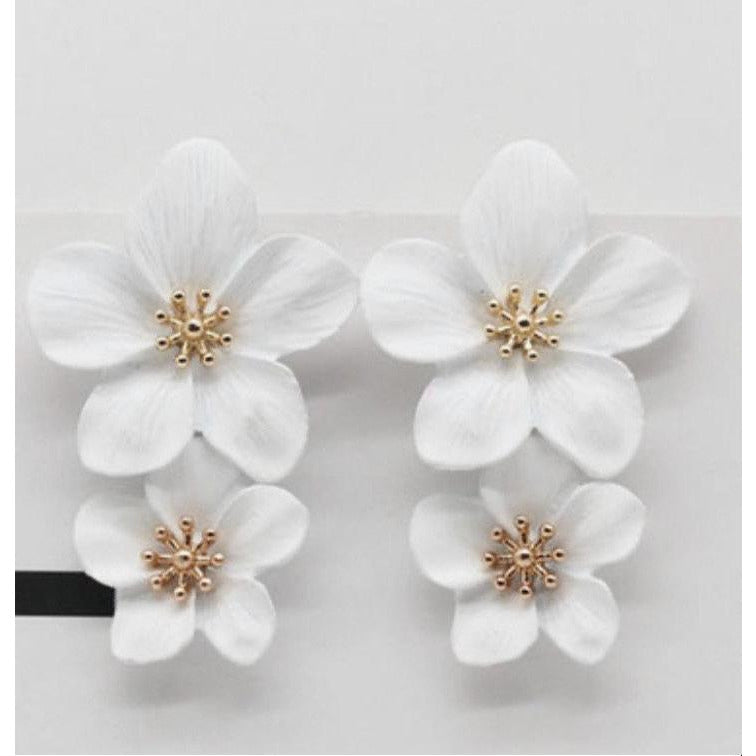 Mia Double Flower Earrings