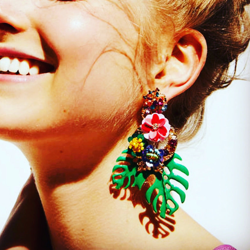 Tropicola Earrings - littlebirddesigns-au