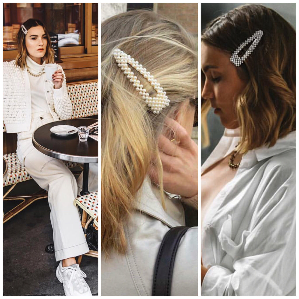 Choose 2 Pearl Hair Clips for $38
