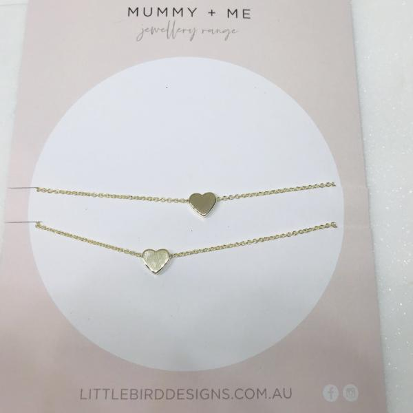 Mummy and Me Heart Necklaces - littlebirddesigns-au