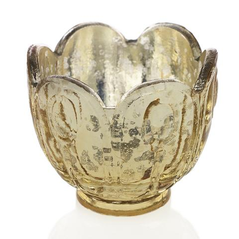 Gold Mercury Glass Votive - Set of 6