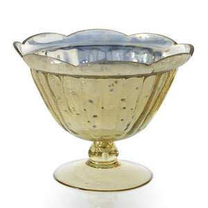 Large Gold Mercury Compote | Gently Used
