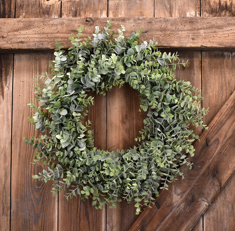 Faux Baby Eucalyptus Wreath - 16""