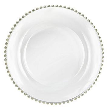 Rental of Beaded Glass Chargers  for Table Setting
