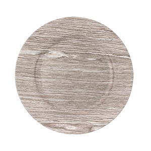Birch Faux Wood Charger Plates Acrylic Chargers  for Table Setting