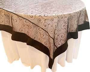 Swirl Embroidery on Organza with matching outside trim