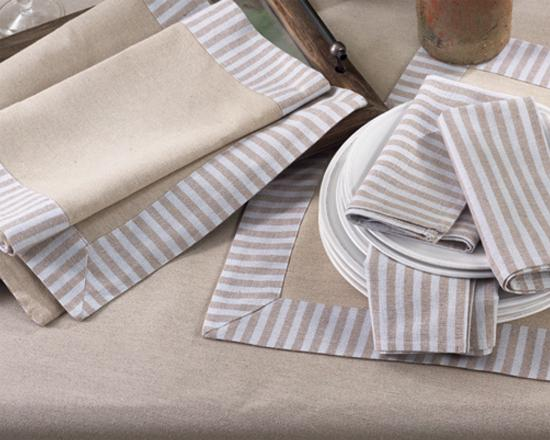 Linen Striped Napkins