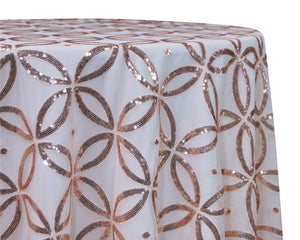 Sequin Patterned Tablecloth Rental