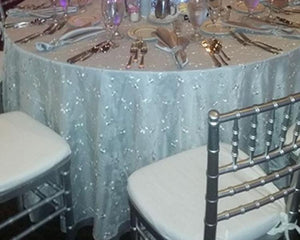 "Embroidered 120"" Sheer Voile Rental"