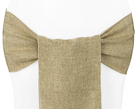 Burlap Sash for Chairs