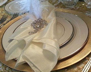"Satin Napkins 20 x 20"" in White and Colors"