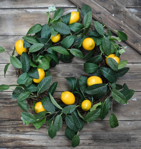 Faux Lemon Wreath - 22""