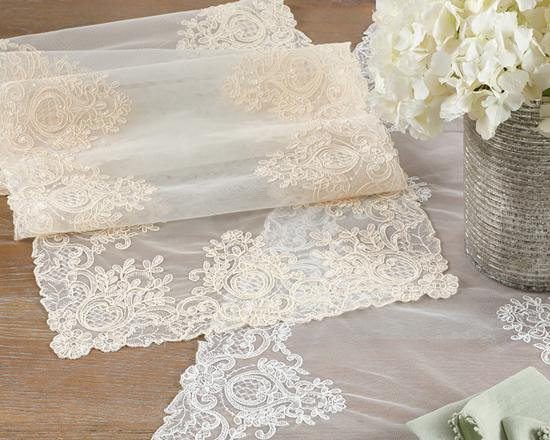 Lace Embroidered Runner