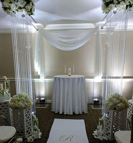 Lucite Columns for Ceremonies - Rental