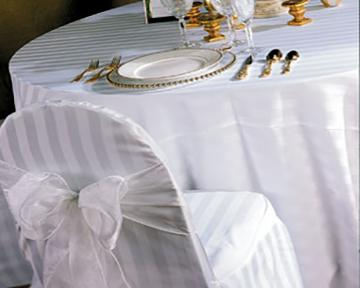 Tuxedo Stripe Chair Cover Rental