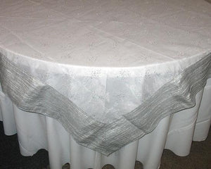 "85"" Square Organza Overlay - 1 Group for Sale"