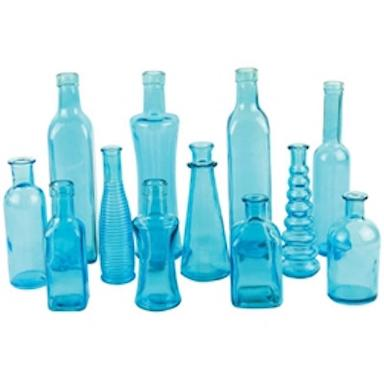 Blue Vintage Bottle Collection