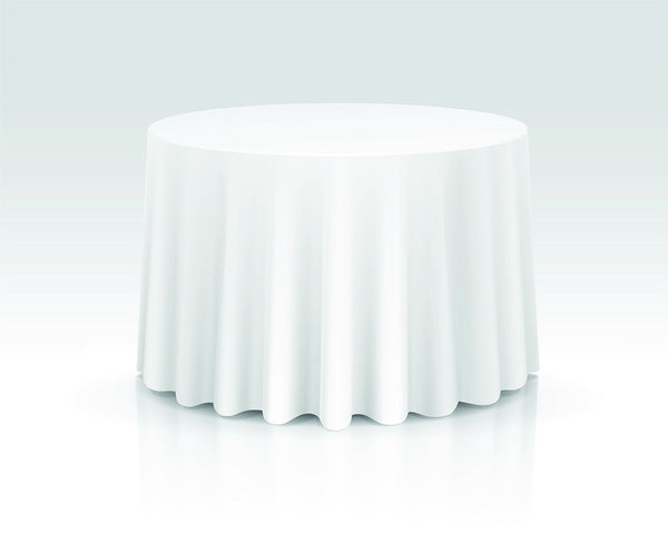 "132"" Round Tablecloth Rental"