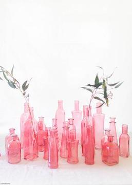 Pink Vintage Bottle Collection