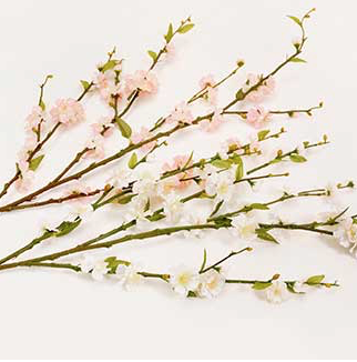 White Silk Cherry Blossom - 39""
