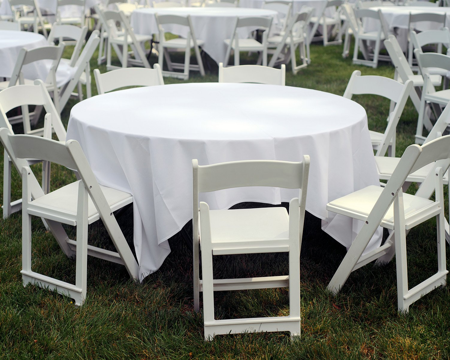 "84"" Square Tablecloth White and Colors"