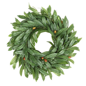 Faux Olive Leaf Wreath - 16""