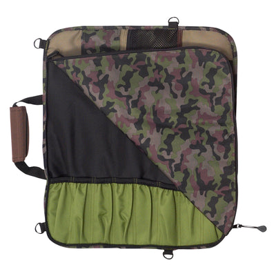 8 Pocket Padded Print Knife Luggage_Camouflage Open