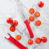 4.5 Inch Red Serrated Tomato Knife with Matching Sheath_Tomato