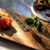 Royale Elité 5 Inch Cheese And Tomato Knife_Tomato and Basil_Cutting Board