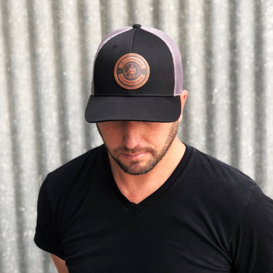 Messermeister Leather Patch Hat-Black
