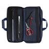 18 Pocket Denim Chef's Luggage_Open_Scissors_Knife Sharpener