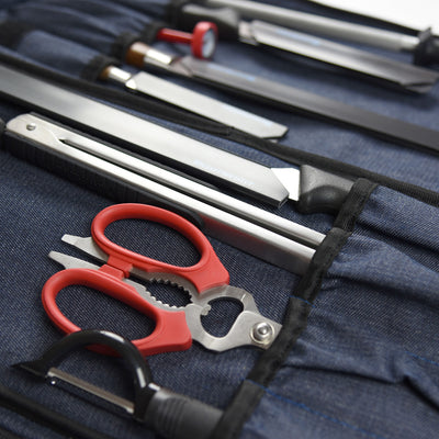 18 Pocket Denim Chef's Luggage_Knives_Scissors_Peeler