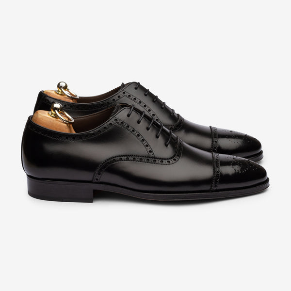 Semi Brogue Oxford - Black