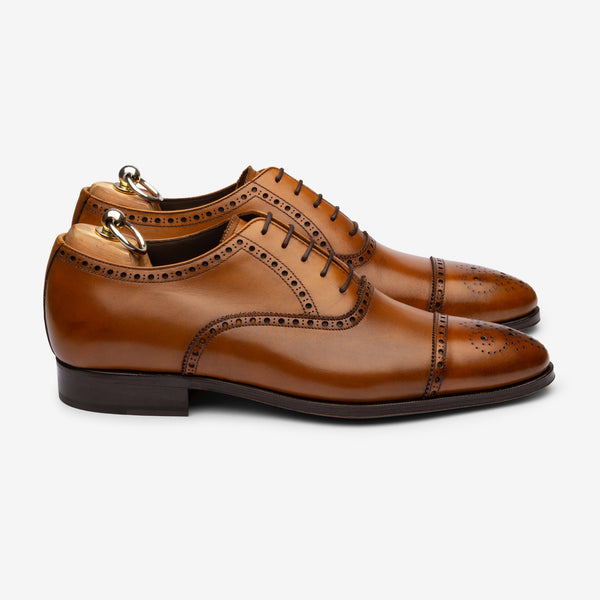 Semi Brogue Oxford - Cuoio