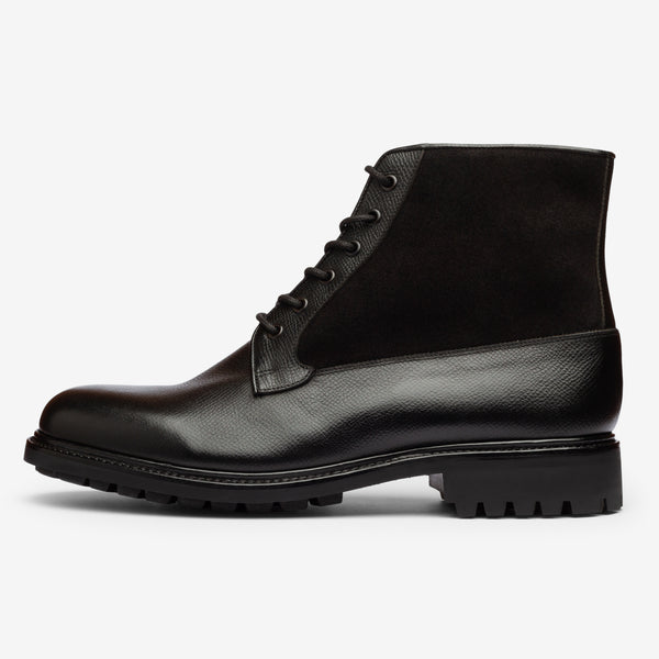 Field Boot in Black - Goodyear Welted