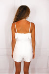 White Ruffle Romper - Shop Core Collection