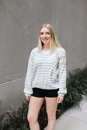 Grey Striped Sweater - Shop Core Collection