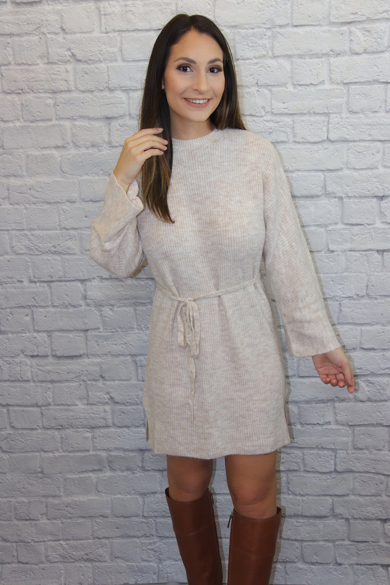 Beige Sweater Dress - Shop Core Collection