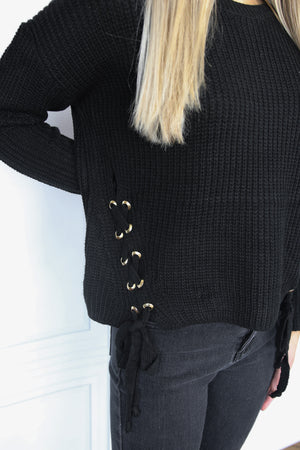 Cropped Side-Tie Sweater - Shop Core Collection