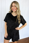 Black Velvet Romper - Shop Core Collection