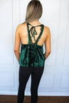 Green Velvet Tank Top - Shop Core Collection